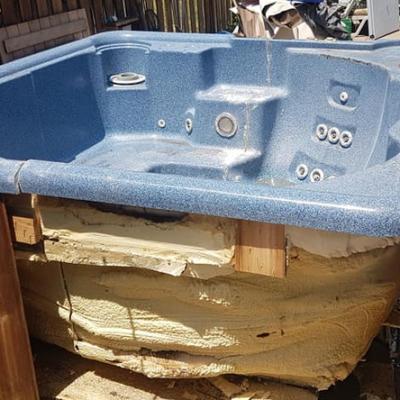 spa pool rubbish removal